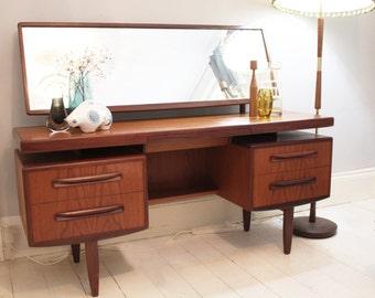 Mid Century G PLAN Fresco Teak Dressing Table with Mirror