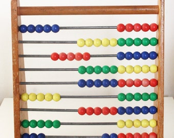 Vintage Wooden Child's Abacus