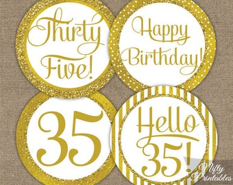 30th birthday cupcake toppers 30th birthday party for 35th birthday decoration ideas
