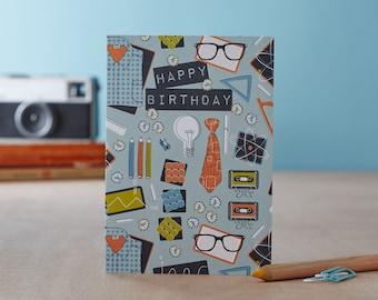 Geek Chic Birthday Card