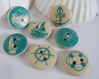 Beach Buttons,beach buttons,ocean sea buttons,craft buttons