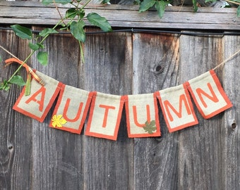 Autumn Burlap Banner