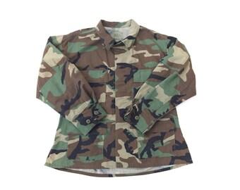 Vintage Army Camo Thin Jacket