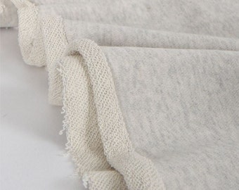 French Terry Knit Fabric Oatmeal By The Yard