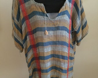Vintage Mexican Tunic or Blouse 1970s