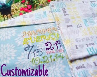 Custom Birth Announcement Blanket