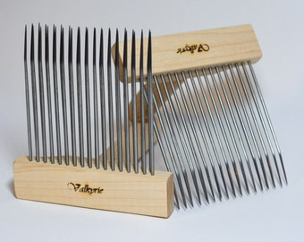 Wool Combs, Fine Valkyrie Viking Combs, Double Row, Standard Size