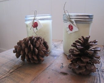 Pint Sized Custom Scented Soy Candles in Ball Jars - Two