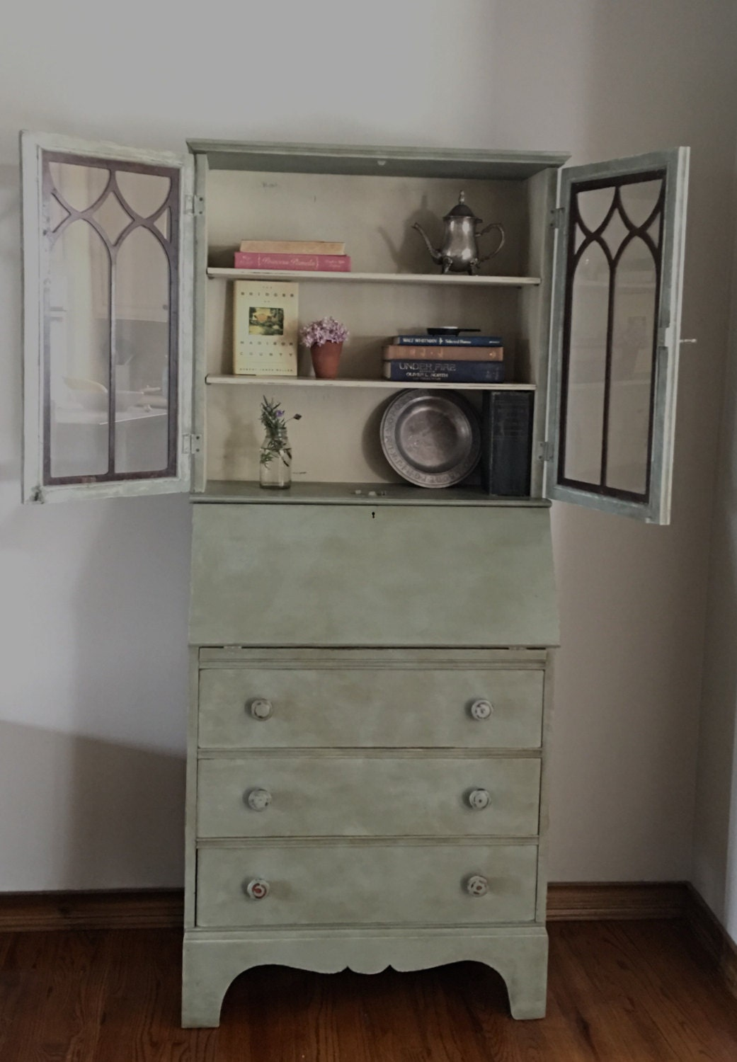 Sold Vintage Secretary Desk Farmhouse Hutch