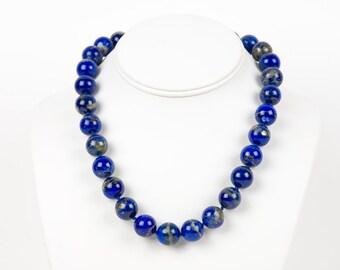 Lapis Lazuli Necklace, Handmade Gemstone Jewelry, Gemstone necklace, Handmade Jewelry, Gemstone Jewelry, blue gemstone, blue necklace