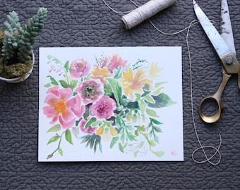 Tree Peony Bouquet | Original Watercolor Painting