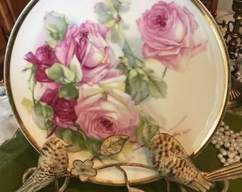 ZS & Co Vintage rose gold rimmed plate