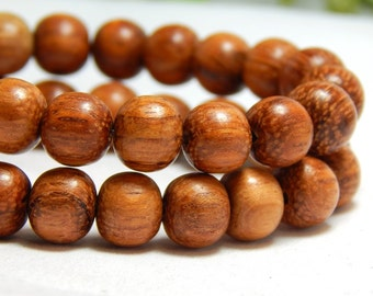 8mm Bayong Wood Beads, Round Bayong Wood Beads, 8mm Wood Beads, 8mm Bayong, Natural Beads, Wood Beads, Wooden Beads, Earthy Beads, D-P05