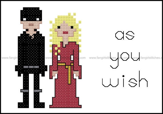 Princess Bride And Westley Inspired Cross Stitch Pdf