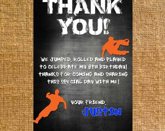 Customized Parkour Thank You - Birthday - Digital File
