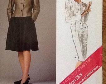 Vogue Dior 40th Anniversary  Designer Suit #1919 Vintage 1987  uncut