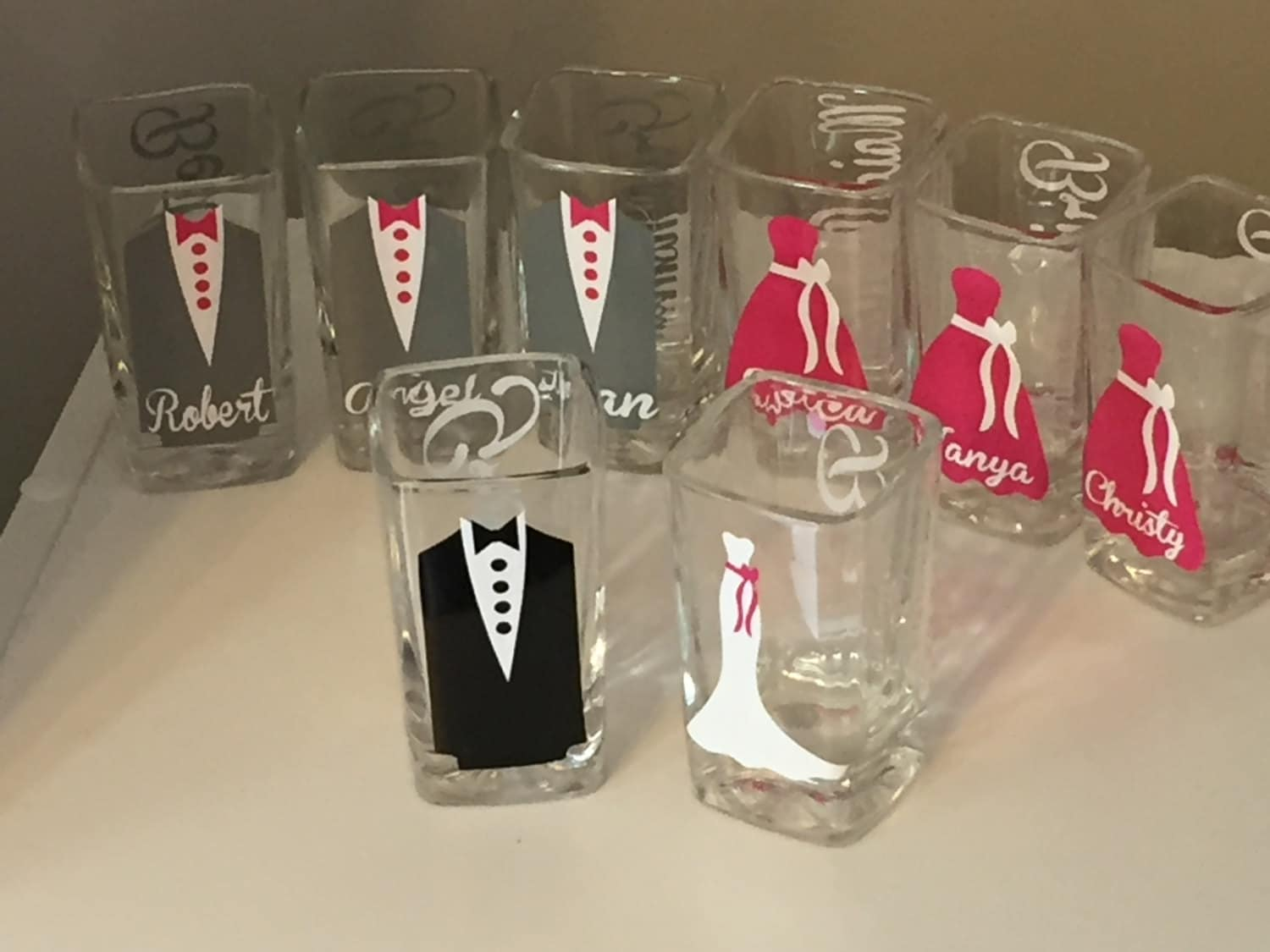 wedding glasses personalized shot glassesbridesmaid shot