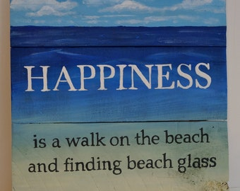 Happiness Beach Sign