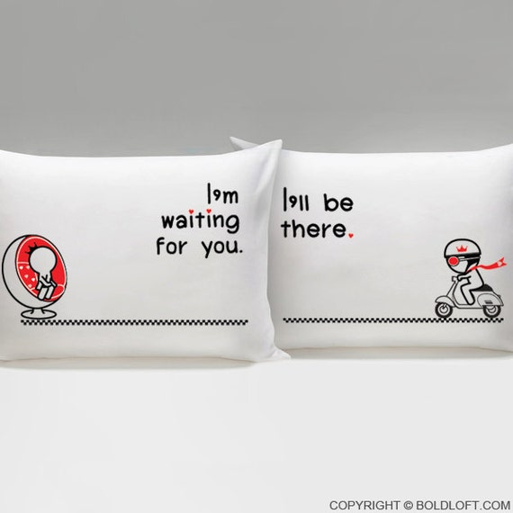 Cute Long Distance Pillow : Long Distance Relationship Pillow CoversBoldLoft Love is on