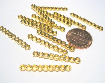 Gold Tone 9 Holes Rectangle Spacer Bar Link Connectors