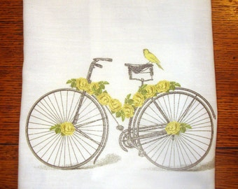 Flour Sack Kitchen Towel Bicycle