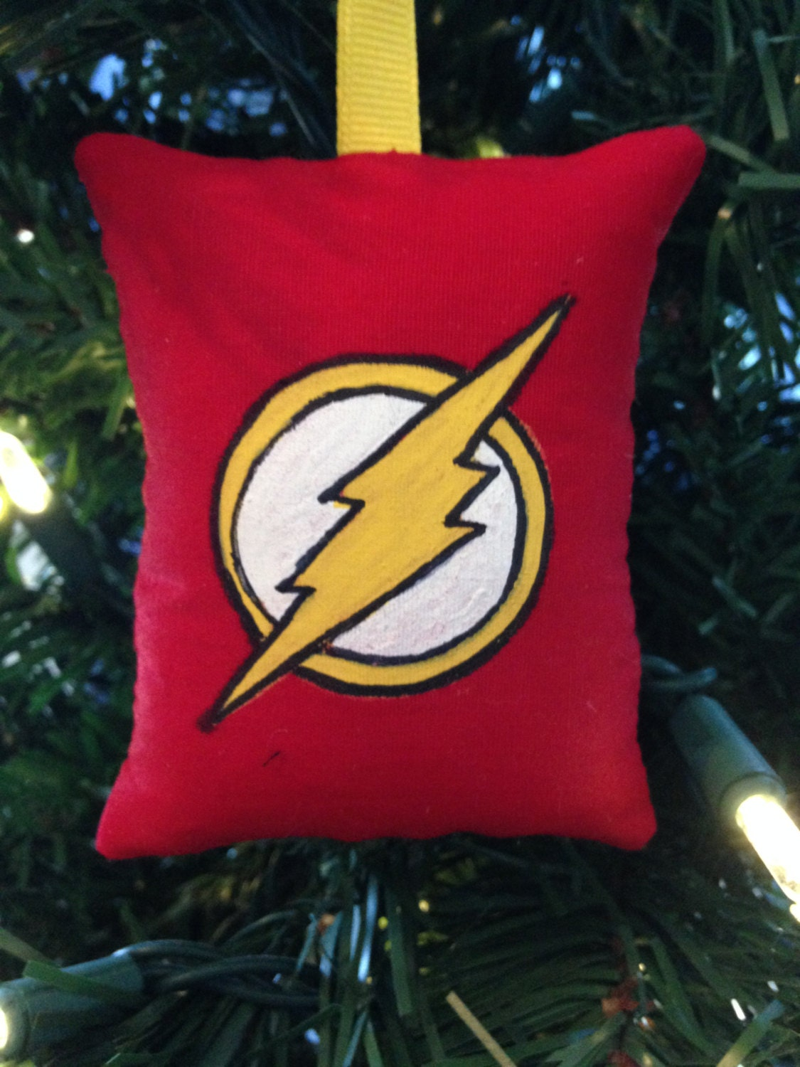 The Flash Logo Christmas Ornament DC Super Hero Barry Allen