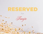 RESERVED listing for Tanja - High chair walnut Tray