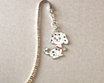 Bookmark  Gift - 101 Dalmatian Puppy Bookmark - Silver Tone Bookmark /Birthdays