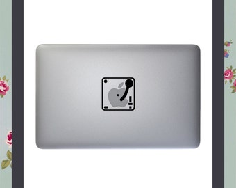 Macbook Decal, Record Player, Apple Macbook, iPad and other laptop Stickers