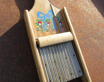 Grater; Antique Grater, Food Grater, Hand Held Grater, Kitchen Grater, Sliding Grater, Wood Grater