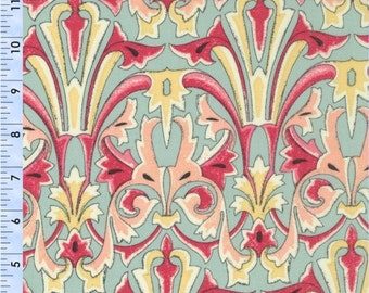 ON SALE 1 yard Victoria and Albert Jones Damask Melon by Westminster Fabrics