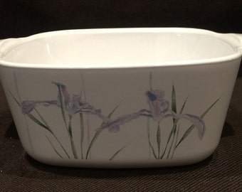 Corning ware Shadow Iris HTF pattern Petite Mini Pan P-43-B - no lid