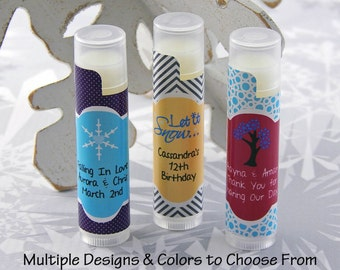 Winter Wedding Ideas - Winter Wedding - Winter Weddings - Winter Party Ideas - Winter Wedding Favors - Winter Lip Balm Favors - Set of 10