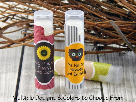 Fall Wedding Ideas - Wedding Ideas for Fall - Rustic Wedding Favors - Fall Wedding Favors - Fall Wedding Lip Balm Favors - Set of 10
