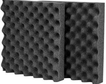 "Acoustic Foam 2-1/2"" x 12"" x 12"" 2 Pieces UL 94"