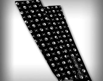 Compression Sleeve Arm Apparel Novelty Streetwear Custom Graphic Design - Crosses and Skulls