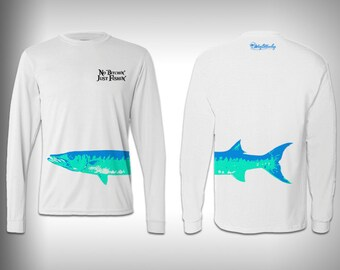 Just Fishin' Barracuda  - performance shirts