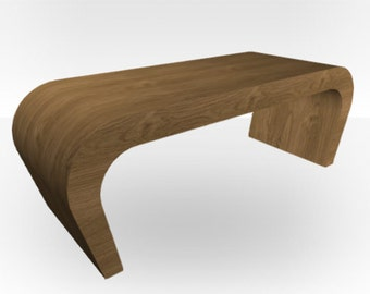 Pippy Oak Matt Coffee Table - Wedge