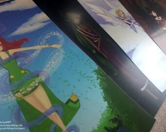 A4 Fine Art Print Set | Triumvirate