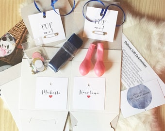 DIY Pop Me Balloon Gift Box- will you be my bridesmaid? proposal, bridal party, bridal favor, secret message, prom