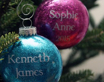Personalized Christmas Ornament - Customizable, personalized and beautiful way to celebrate the holidays!