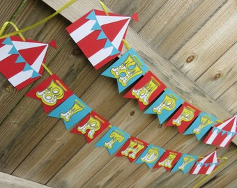 Big Top Circus Banner, Circus Banner, Circus Birthday Banner, Big Top, Circus Party, Big Top Party, Big Top Banner, Circus, Circus Tent
