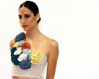 top made  of recicle cotton / top elaborado en algodón reciclado