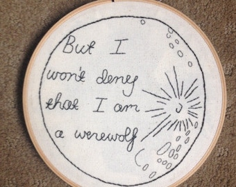 Harry Potter Remus Lupin Werewolf Embroidery Quote
