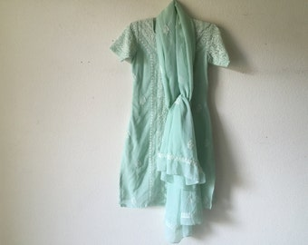Vintage Indian Tunic Dress and Shawl