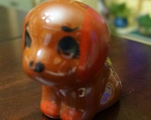 Big Eyed Puppy; Glazed; Terra Cotta; Approx. 3 x 3 in.; Adorable !!!
