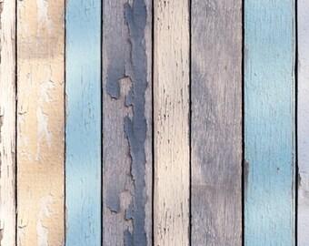 Distressed Wood planks photo Backdrop,Newborn Children Boys Product Wooden Floordrops, Faded peeling wood backdrop D-1262