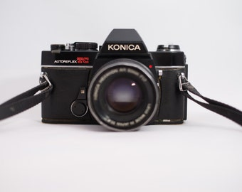 Konica Autoreflex TC Vintage SLR in epicly used contidion + Legendary Hexanon 50mm F1.7