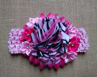 Baby Girl Headband, Pink Headband, Flower Headband, Baby Headband, Baby Hair Accessory, Infant Headband, Newborn Headband, Toddler Headband