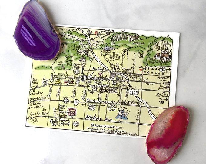 Agate Magnet // agate slice magnet, pink agate slice, purple agate, blue agate, stone magnet, geode magnet, crystal magnet, gifts under 10